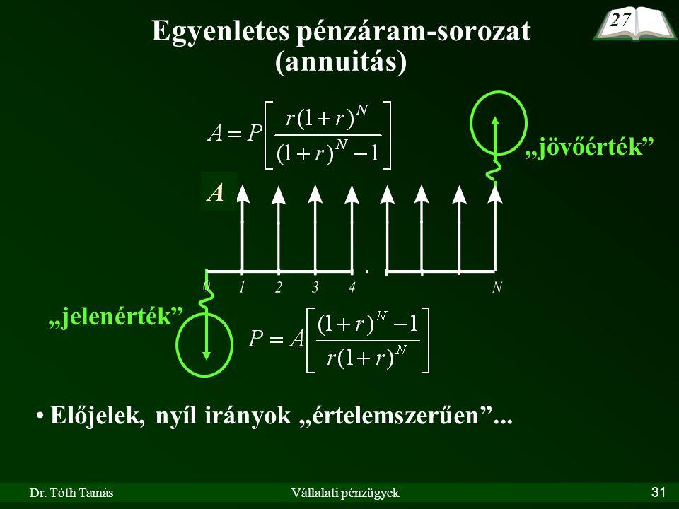 Egyenletes pénzáram-sorozat (annuitás)