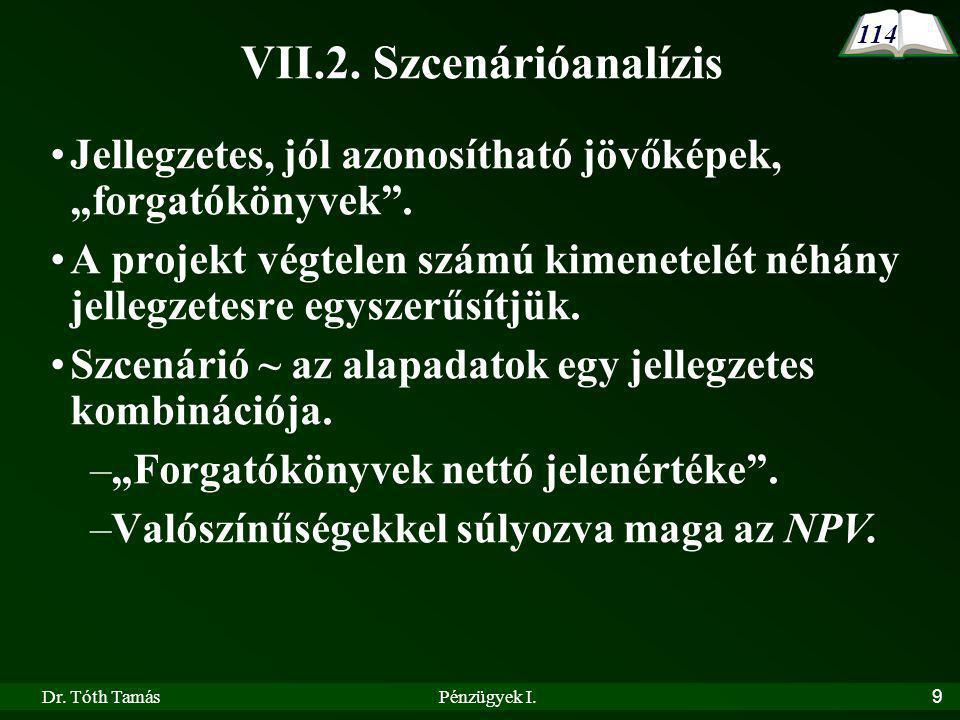 VII.2. Szcenárióanalízis
