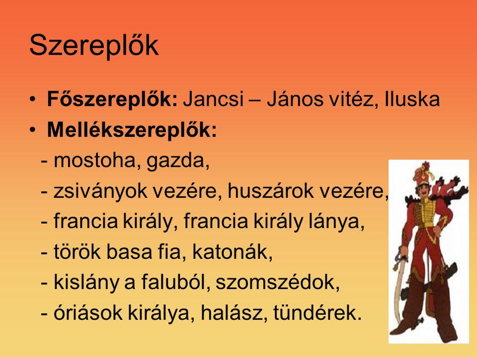 Szereplők Főszereplők: Jancsi – János vitéz, Iluska Mellékszereplők: