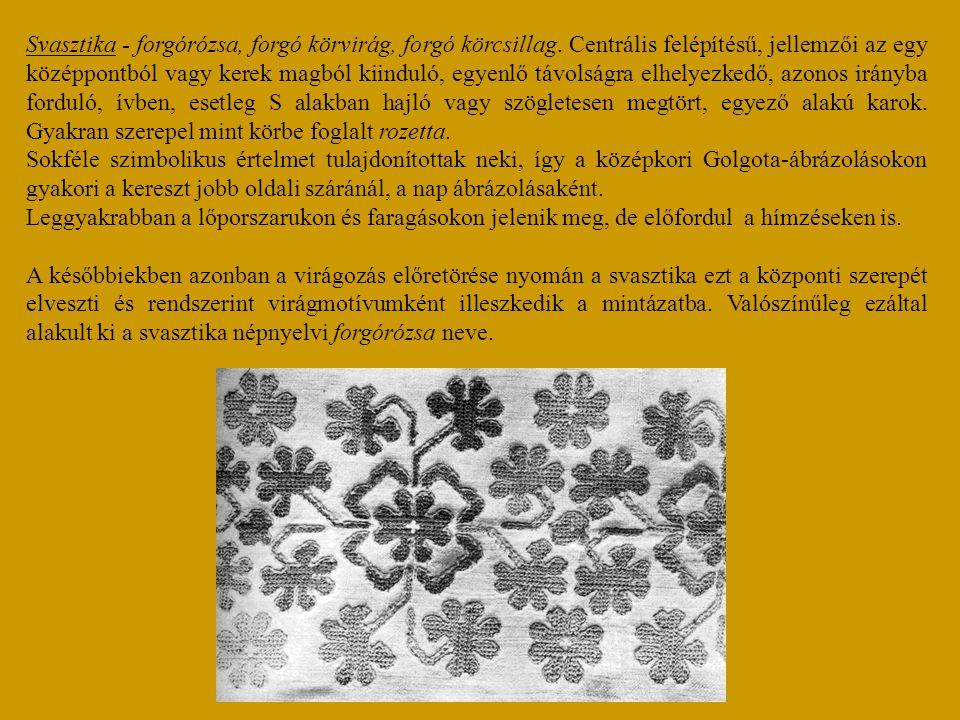 Svasztika - forgórózsa, forgó körvirág, forgó körcsillag