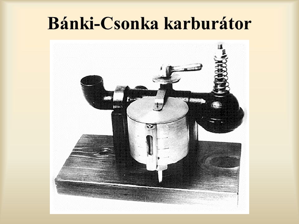 Bánki-Csonka karburátor