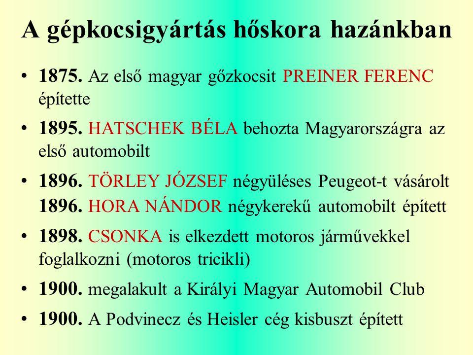 A gépkocsigyártás hőskora hazánkban