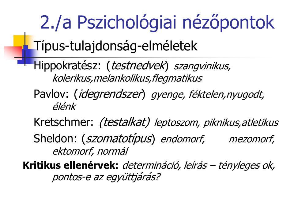 2./a Pszichológiai nézőpontok