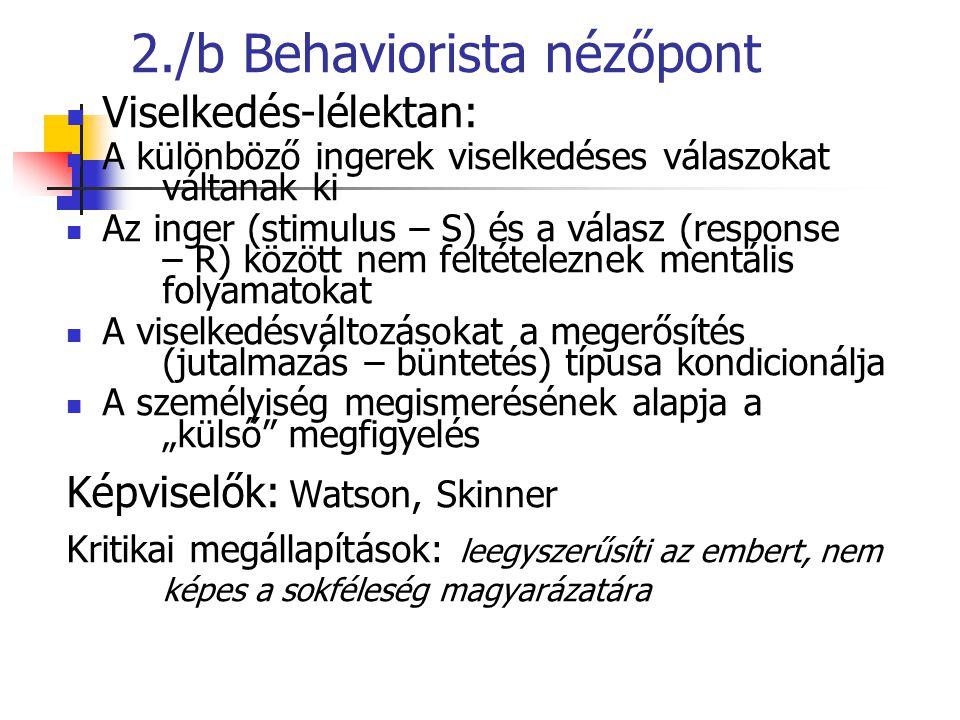 2./b Behaviorista nézőpont