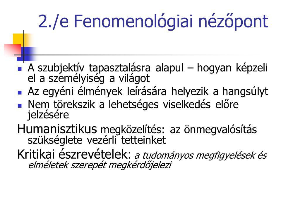 2./e Fenomenológiai nézőpont