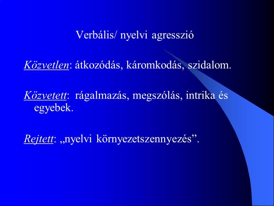 Verbális/ nyelvi agresszió