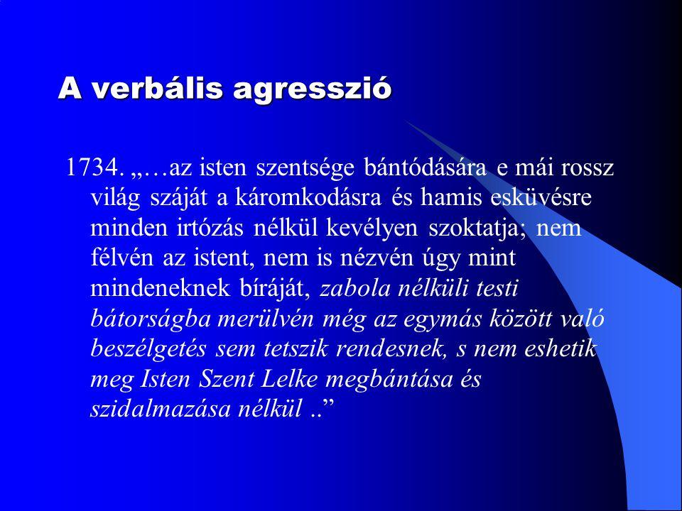 A verbális agresszió