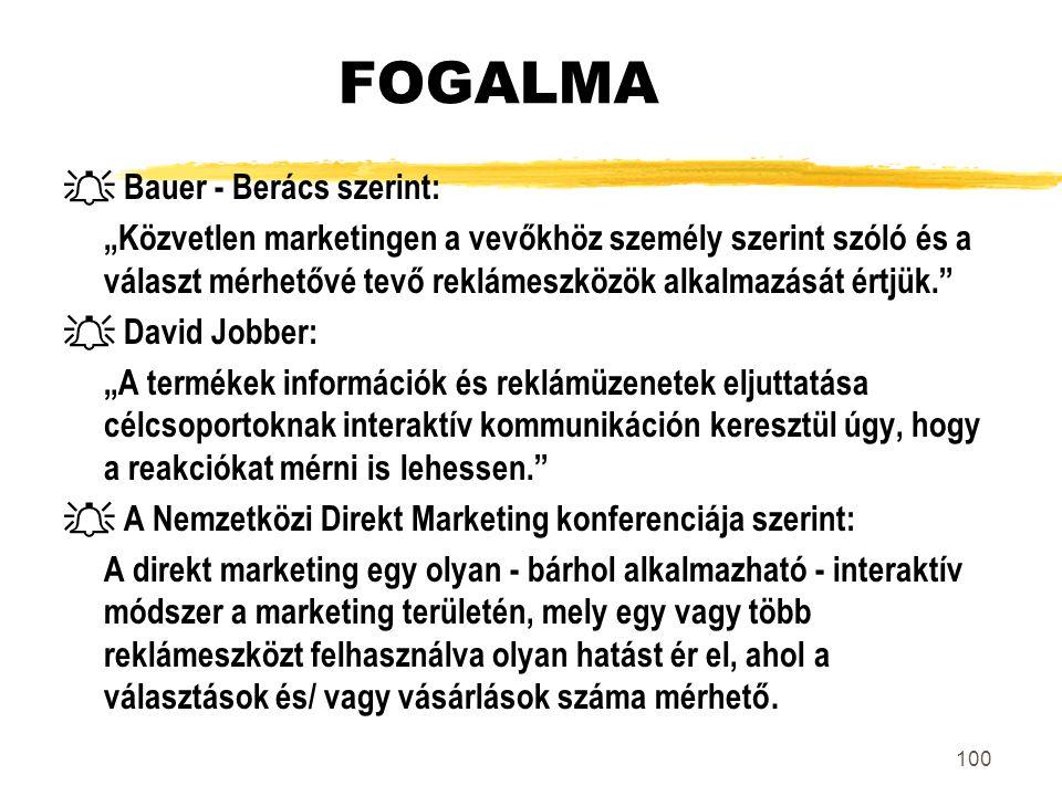 FOGALMA  Bauer - Berács szerint: