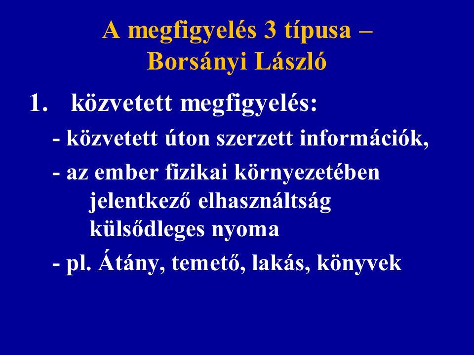 A megfigyelés 3 típusa – Borsányi László