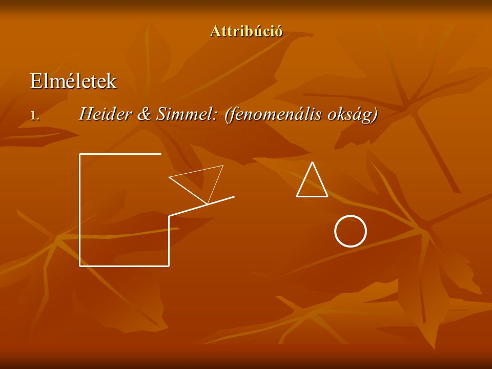 Heider & Simmel: (fenomenális okság)