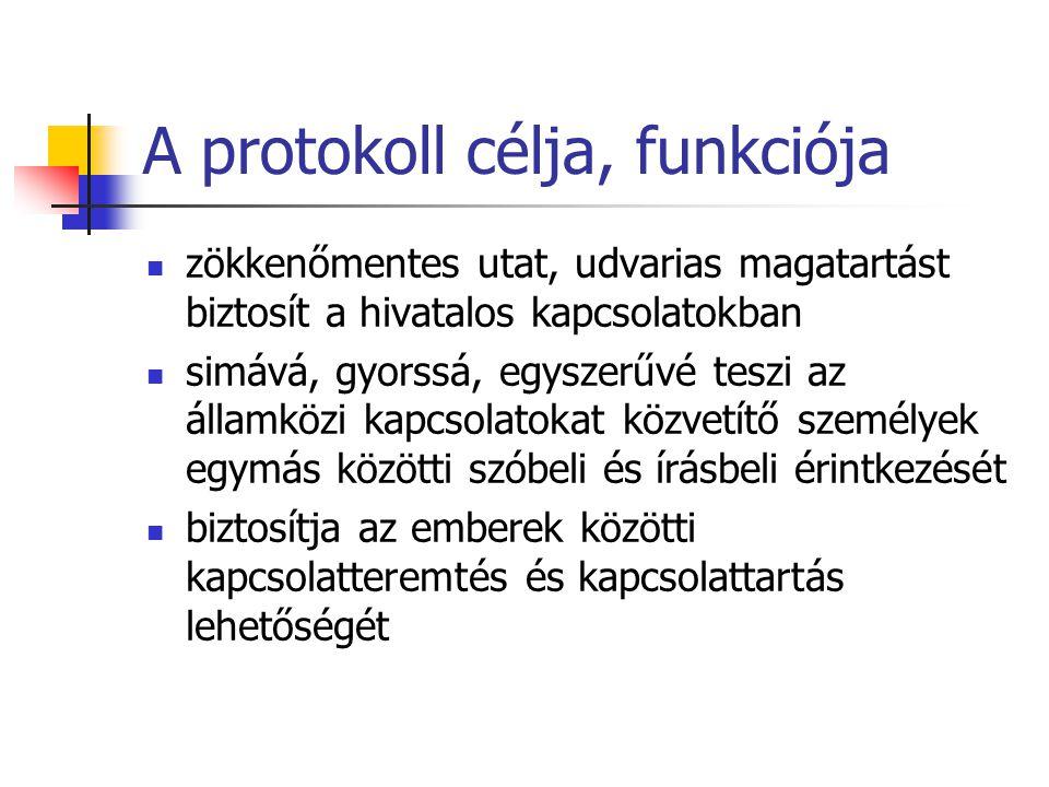 A protokoll célja, funkciója