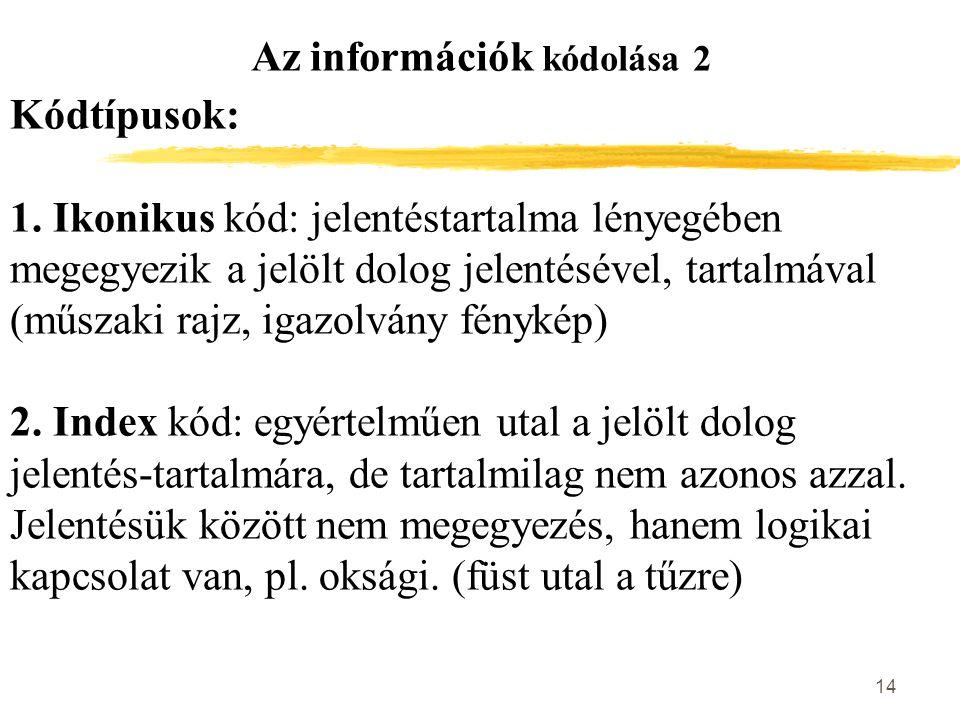 Az információk kódolása 2