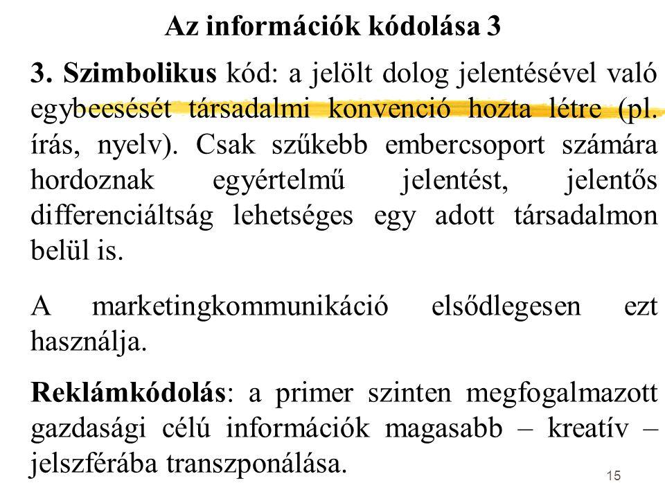 Az információk kódolása 3