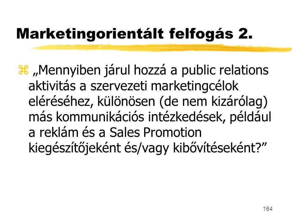 Marketingorientált felfogás 2.