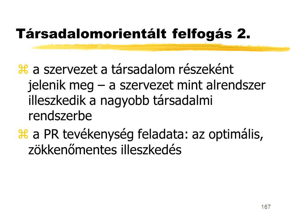 Társadalomorientált felfogás 2.