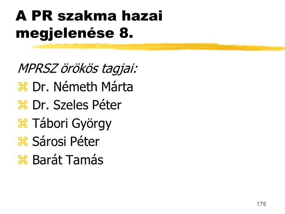 A PR szakma hazai megjelenése 8.