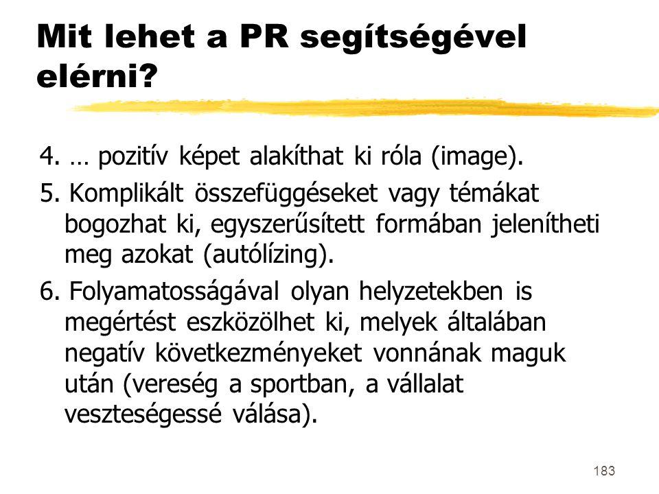 Mit lehet a PR segítségével elérni
