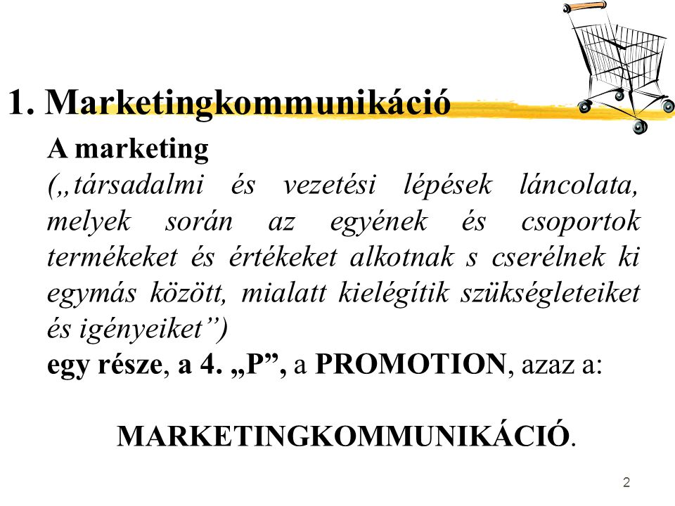 1. Marketingkommunikáció