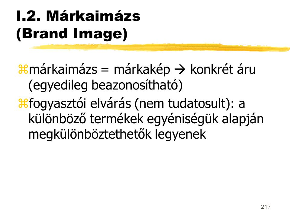 I.2. Márkaimázs (Brand Image)