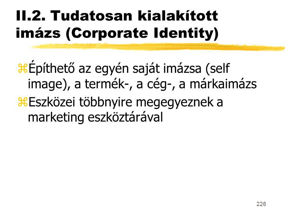 II.2. Tudatosan kialakított imázs (Corporate Identity)