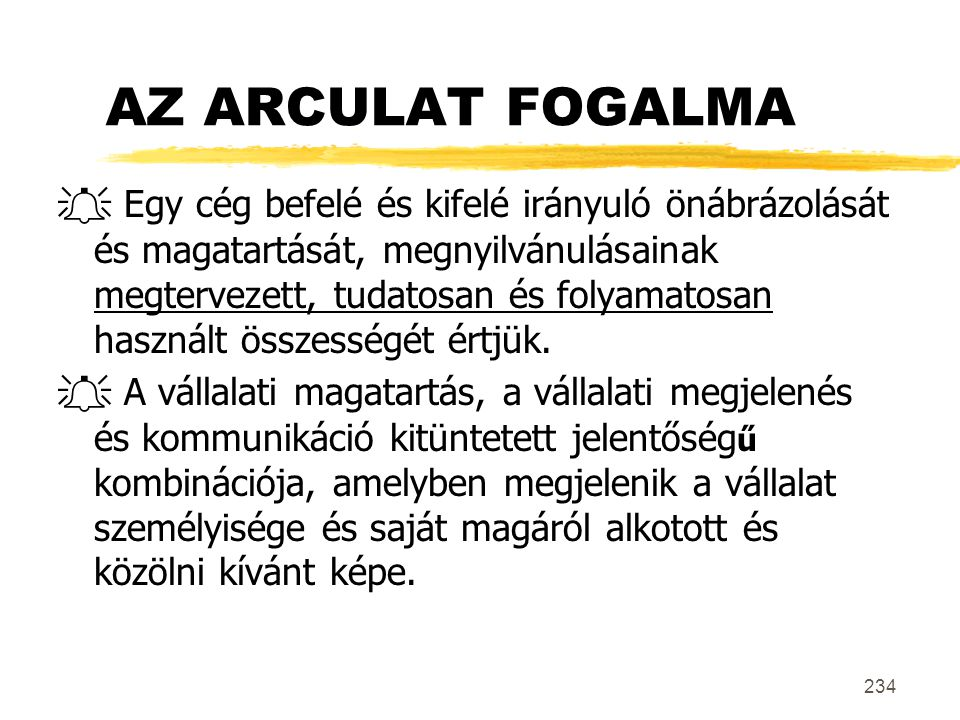 AZ ARCULAT FOGALMA