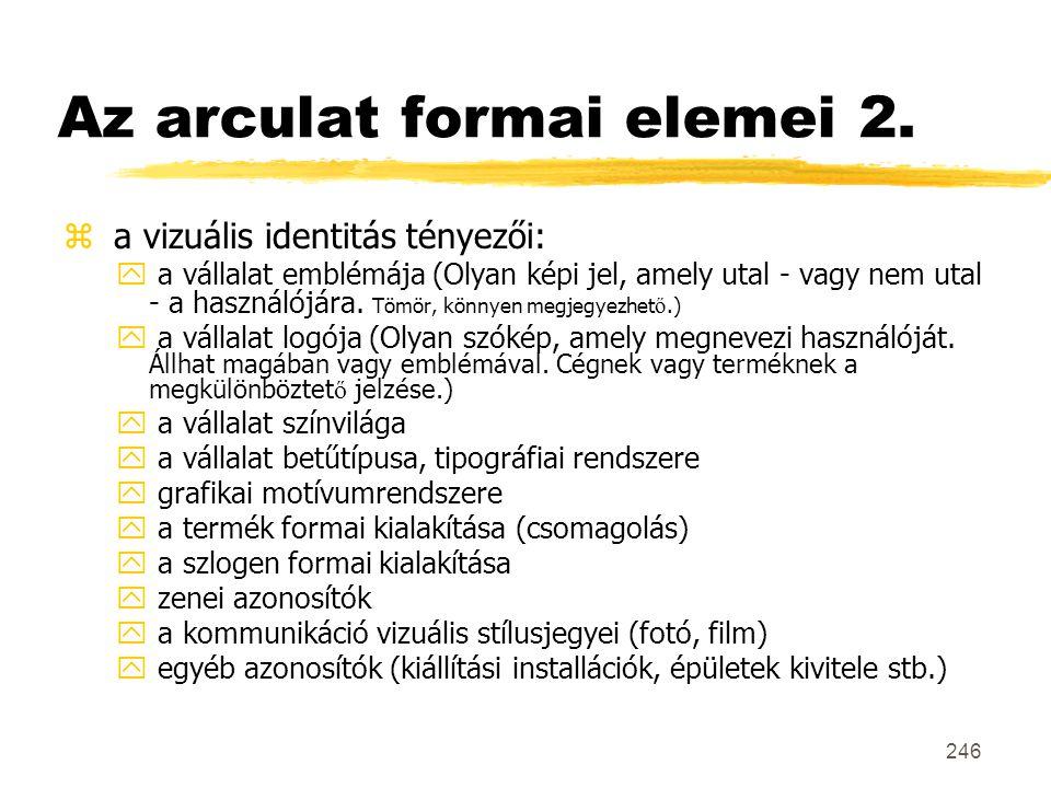 Az arculat formai elemei 2.