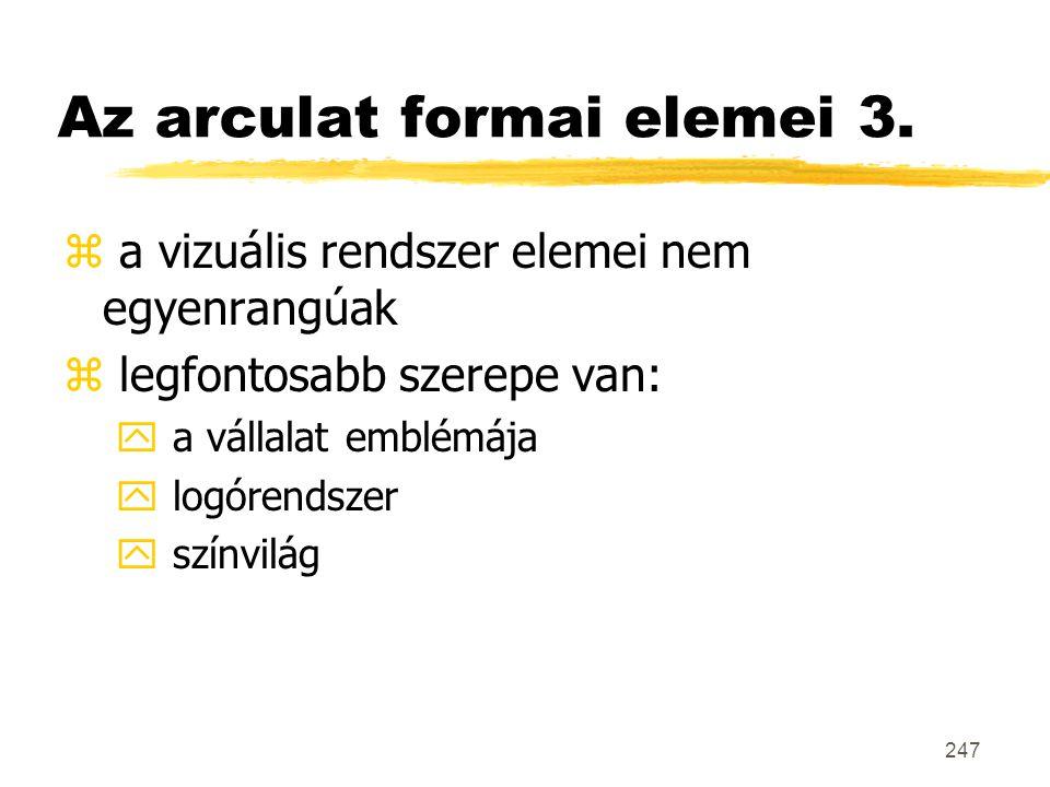 Az arculat formai elemei 3.