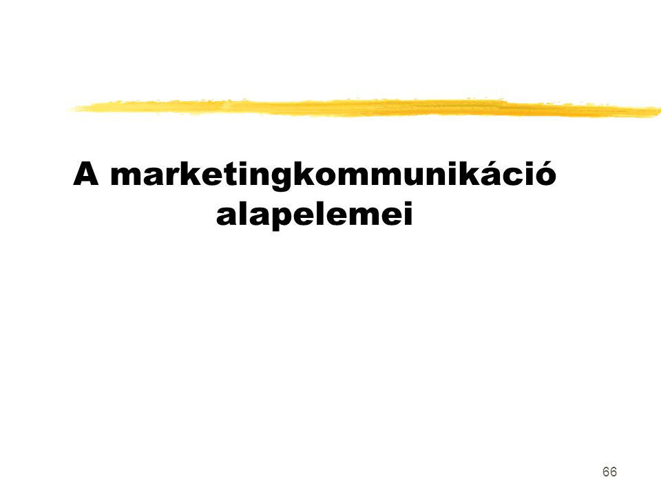A marketingkommunikáció alapelemei