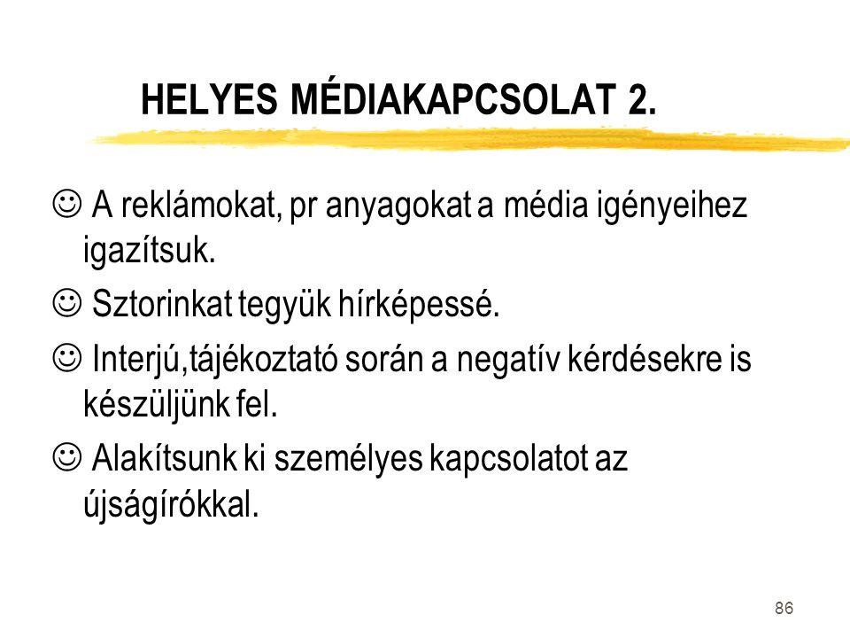 HELYES MÉDIAKAPCSOLAT 2.