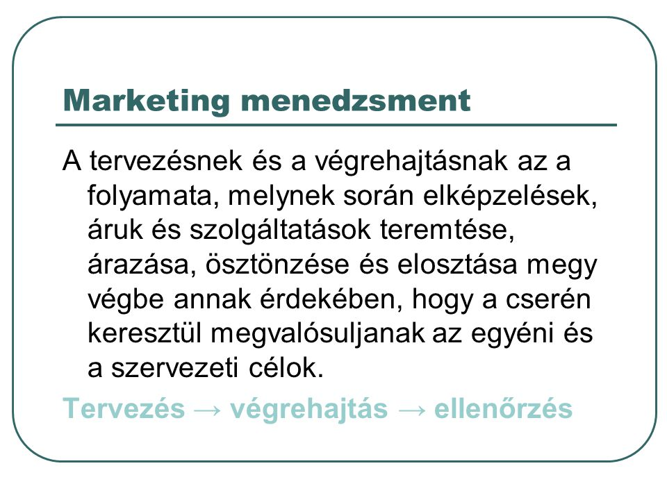 Marketing menedzsment