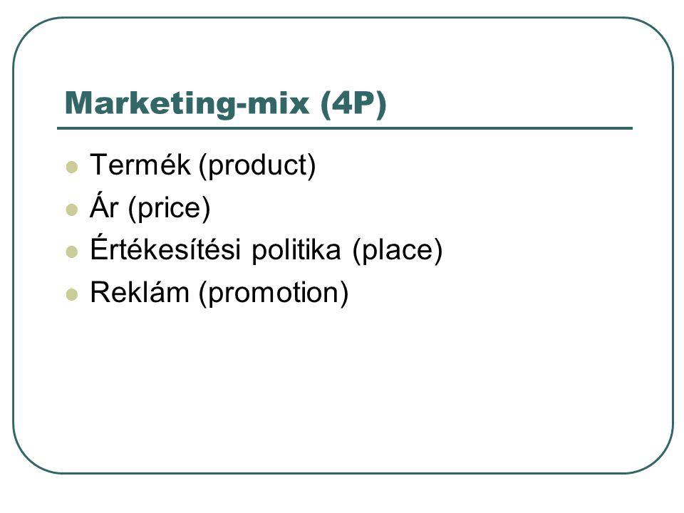Marketing-mix (4P) Termék (product) Ár (price)