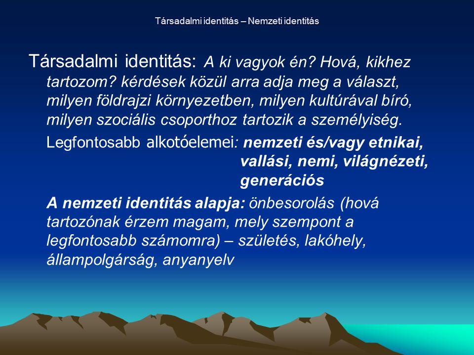 Társadalmi identitás – Nemzeti identitás