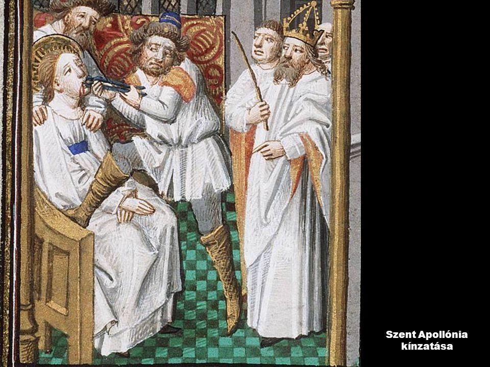 Szent Apollónia kínzatása