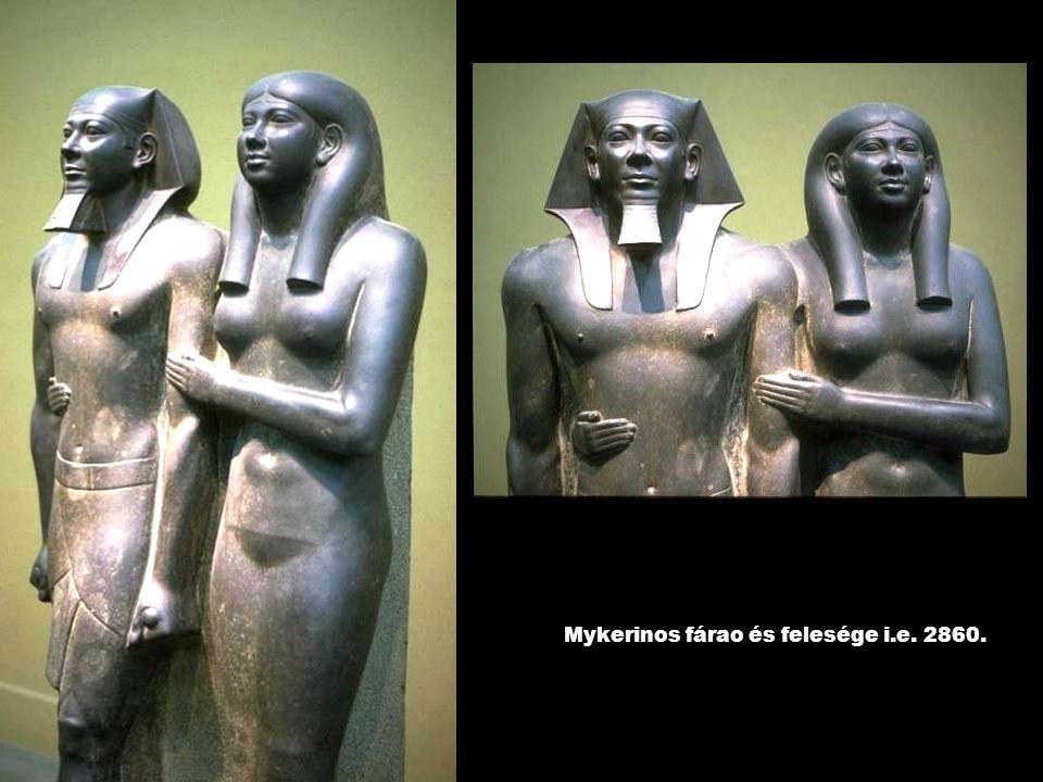 Mykerinos fárao és felesége i.e. 2860.