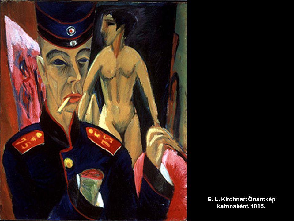 E. L. Kirchner: Önarckép katonaként, 1915.