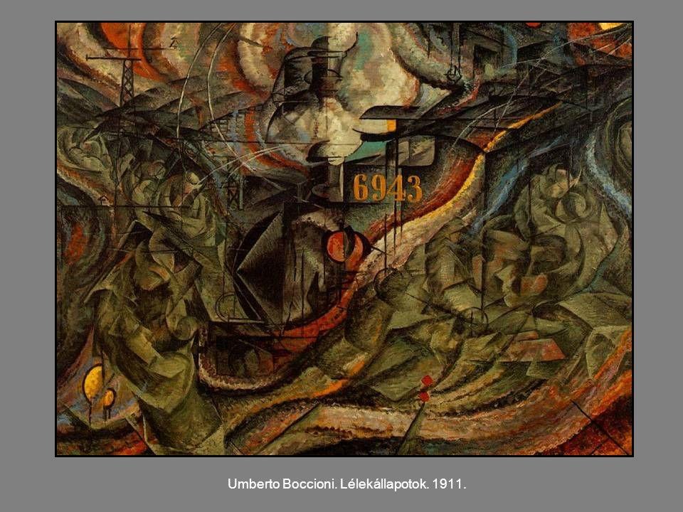 Umberto Boccioni. Lélekállapotok. 1911.