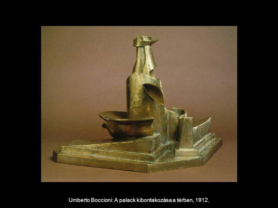 Umberto Boccioni: A palack kibontakozása a térben, 1912.