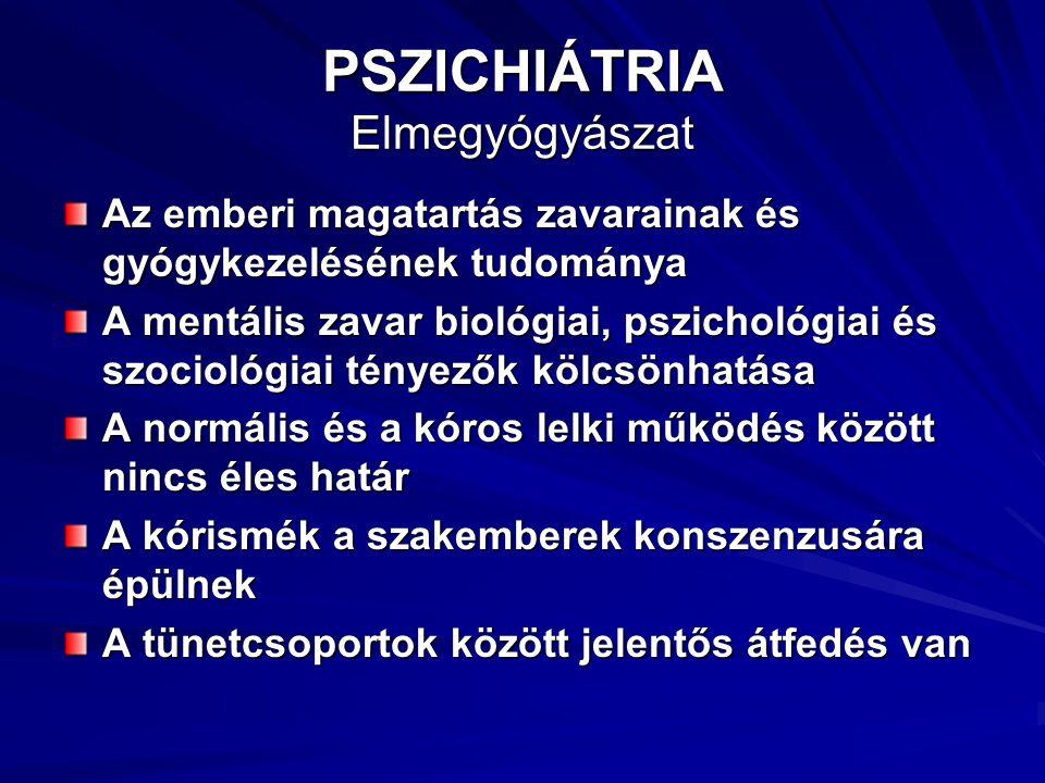 PSZICHIÁTRIA Elmegyógyászat