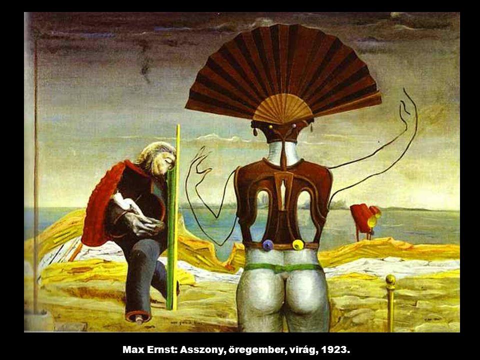 Max Ernst: Asszony, öregember, virág, 1923.