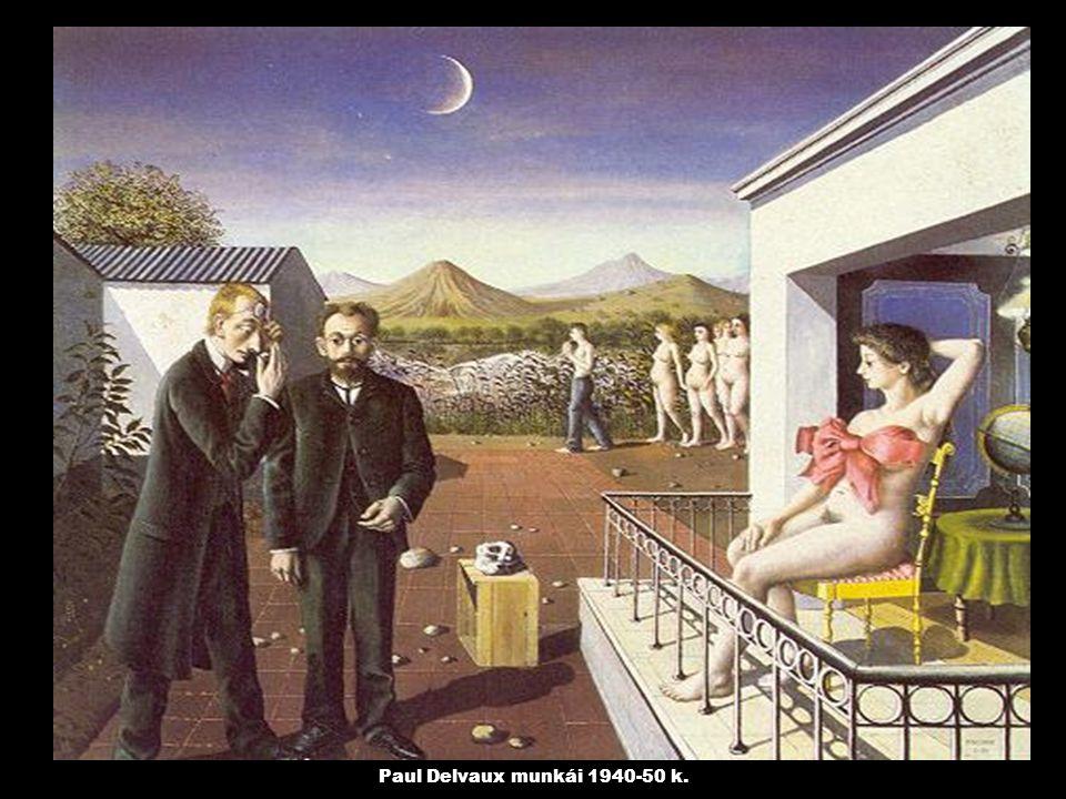 Paul Delvaux munkái 1940-50 k.