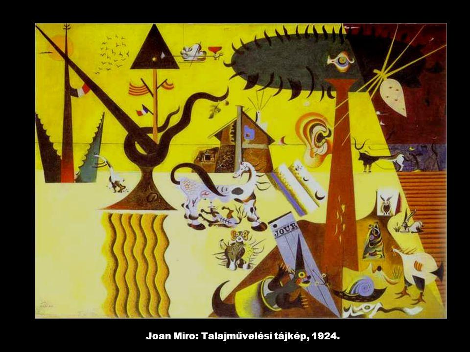 Joan Miro: Talajművelési tájkép, 1924.