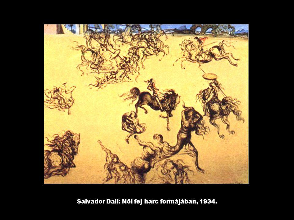Salvador Dali: Női fej harc formájában, 1934.