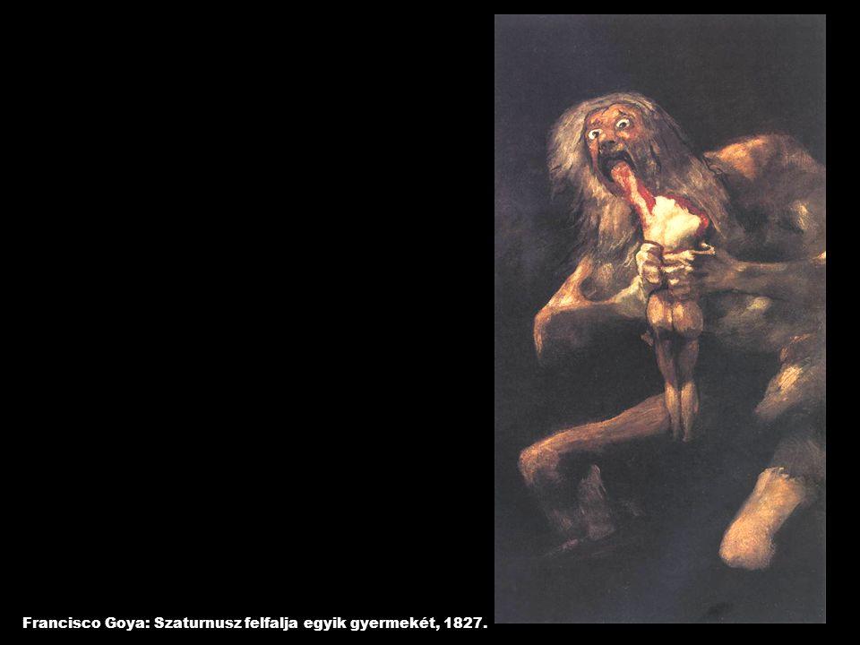 Francisco Goya: Szaturnusz felfalja egyik gyermekét, 1827.