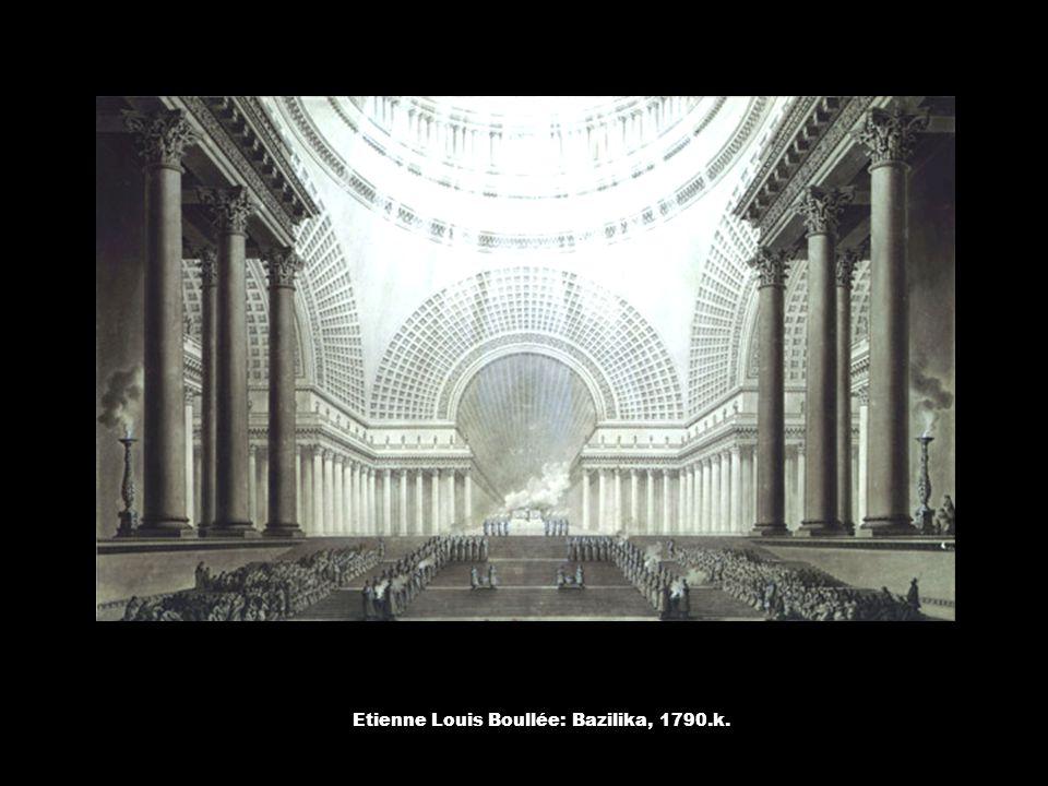 Etienne Louis Boullée: Bazilika, 1790.k.