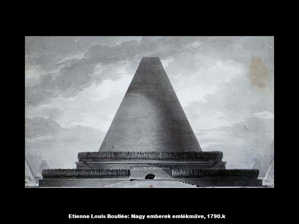 Etienne Louis Boullée: Nagy emberek emlékműve, 1790.k