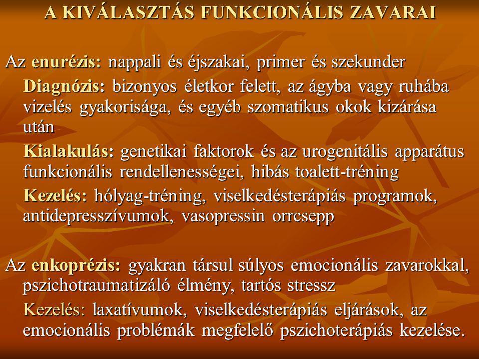 A KIVÁLASZTÁS FUNKCIONÁLIS ZAVARAI