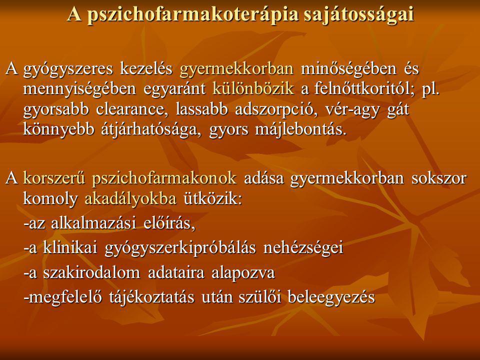 A pszichofarmakoterápia sajátosságai