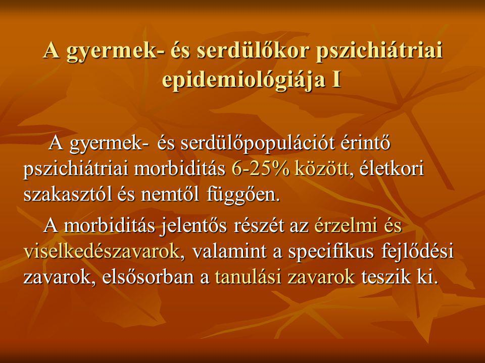 A gyermek- és serdülőkor pszichiátriai epidemiológiája I