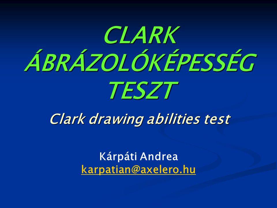 CLARK ÁBRÁZOLÓKÉPESSÉG TESZT