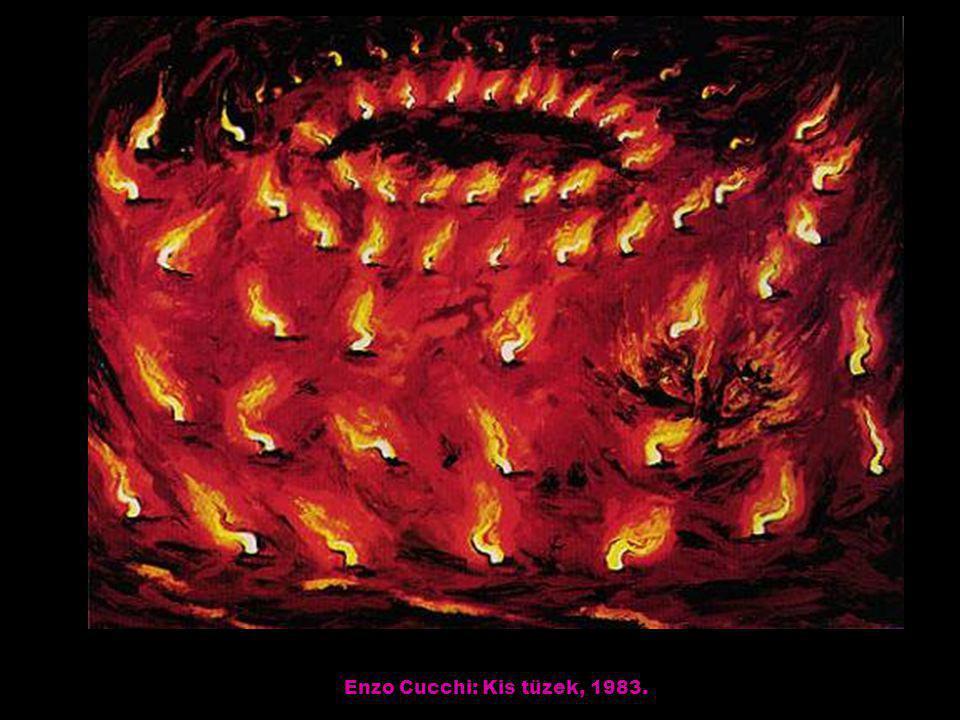 Enzo Cucchi: Kis tüzek, 1983.